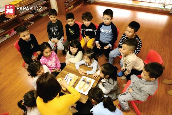 Không gian học tập tại Papakidz Preschool