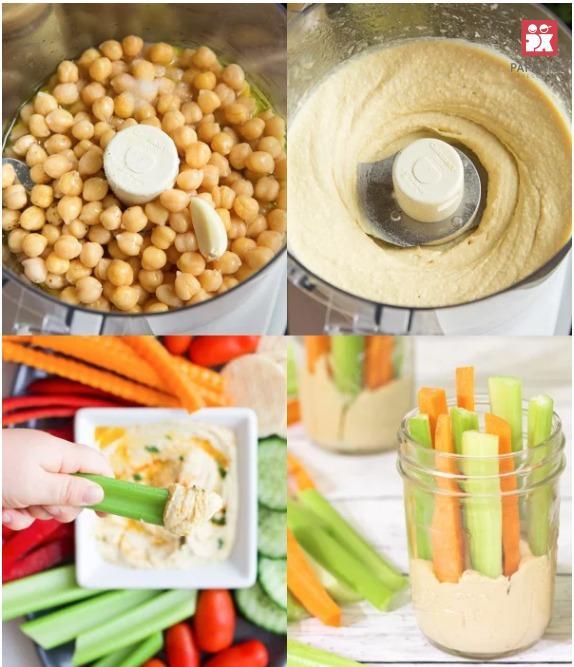 Hummus (đậu gà nghiền) cho trẻ em