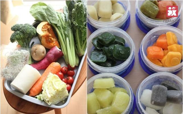Các loại rau củ cho bé